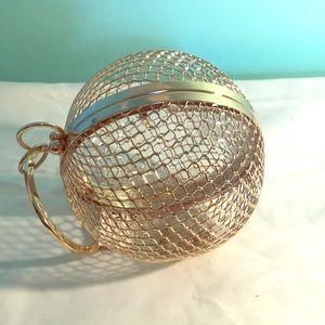 ASOS DESIGN Luxe cage sphere clutch bag